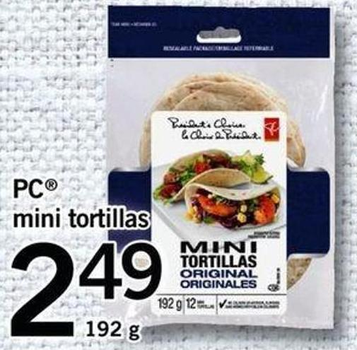 PC Mini Tortillas - 192 G