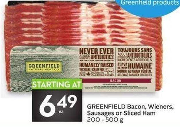 Greenfield Bacon - Wieners - Sausages or Sliced Ham