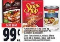 Franco-american Gravy - Stove Top Stuffing Mix Or Club House Gravy Mix