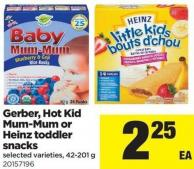 Gerber - Hot Kid Mum-mum Or Heinz Toddler Snacks - 42-201 g