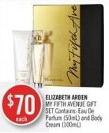 Elizabeth Arden My Fifth Avenue Gift Set Contains: Eau De Parfum (50ml) and Body Cream (100ml)