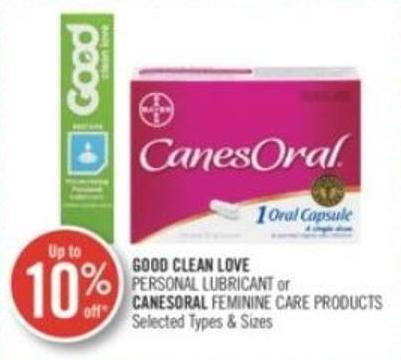 Good Clean Love Personal Lubricant or Canesoral Feminine Care Products