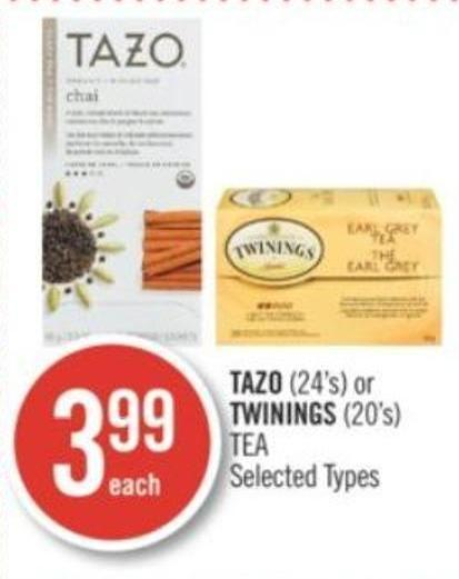 Tazo (24's) or Twinings (20's) Tea