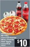 Shareable Pizza 890-1120 G - 2 Coca-cola Beverage 500 Ml - 2 From Our Chefs Dipping Sauces - 44 Ml