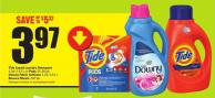 Tide Liquid Laundry Detergent 1.36-1.47 L or Pods 15-20 Pk Downy Fabric Softener 1.23-1.53 L Bounce Sheets 120 Pk