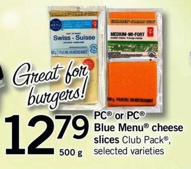 PC Or PC Blue Menu Cheese Slices - 500 G