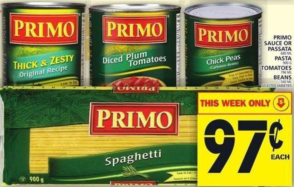 Primo Sauce Or Passata Or Pasta Or Tomatoes Or Beans