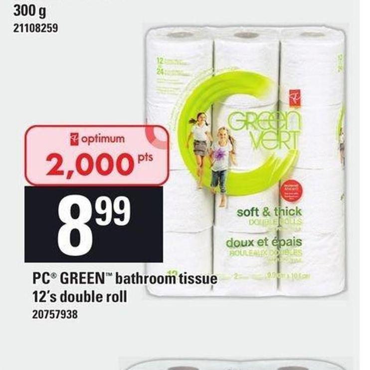PC Green Bathroom Tissue - 12's Double Roll