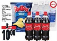 Coca-cola Or Pepsi Soft Drinks 6 X 710 Or Doritos Or Ruffles Chips 210 - 255 g
