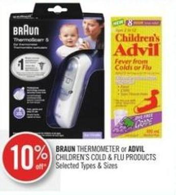 Braun Thermometer or Advil Children's Cold & Flu Products