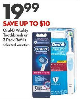 Oral-b Vitality Toothbrush or 3 Pack Refills