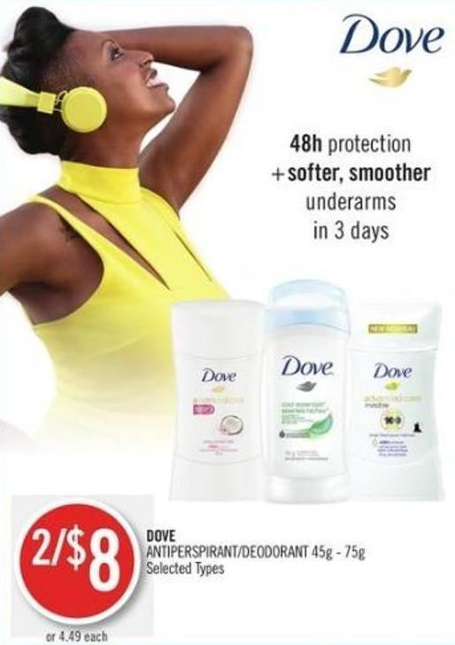Dove Antiperspirant/deodorant