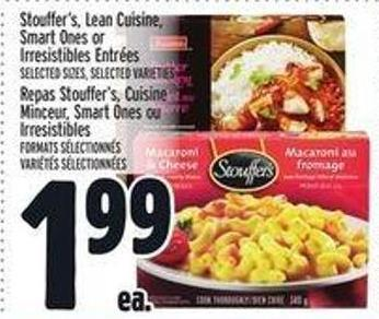 Stouffer's - Lean Cuisine - Smart Ones or Irresistibles Entrées