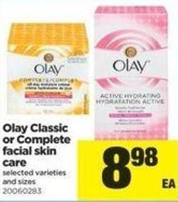 Olay Classic Or Complete Facial Skin Care