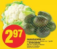 Cauliflower - Each or Avocados