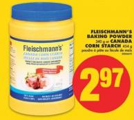 Fleischmann's Baking Powder - 340 g or Canada Corn Starch - 454 g