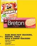 Dare Bear Paw Crackers - Breton - Vinta or Bold N Baked Crackers - 100-250 g