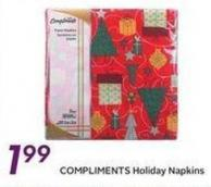 Compliments Holiday Napkins