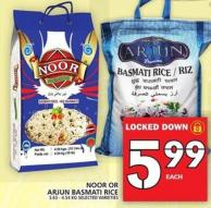Noor Or Arjun Basmati Rice 3.63 - 4.54 Kg