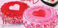 Chocolate or Vanilla Valentine's Day Cakes 735 g