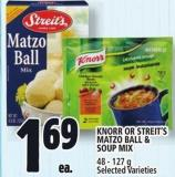Knorr Or Streit's Matzo Ball & Soup Mix
