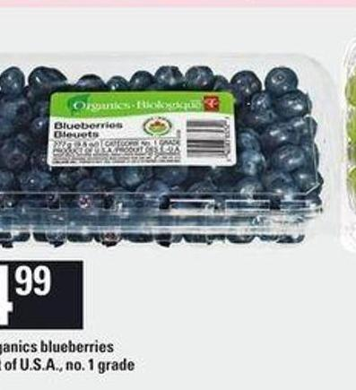 PC Organics Blueberries - 9.8 Oz