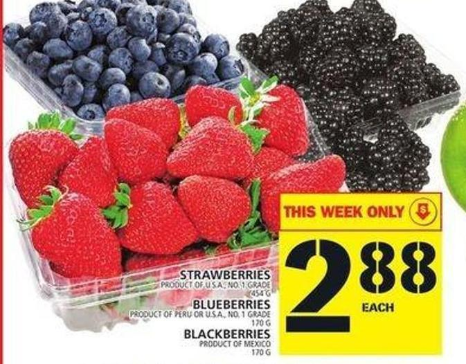 Strawberries Or Blueberries Or Blackberries
