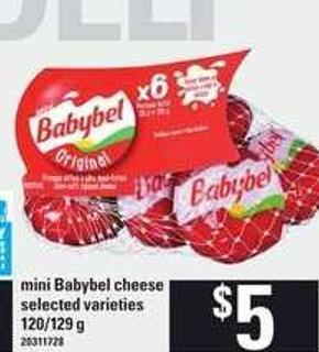 Mini Babybel Cheese - 120/129 G