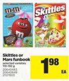 Skittles Or Mars Funbook - 110-192 g