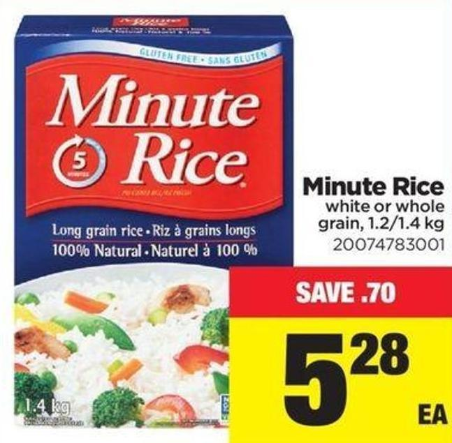 Minute Rice - 1.2/1.4 Kg