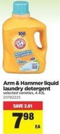 Arm & Hammer Liquid Laundry Detergent - 4.43l