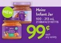 Heinz Infant Jar - 100 - 213 Ml