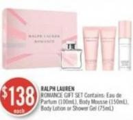 Ralph Lauren Romance Gift Set Contains (100ml) - Body Mousse (150ml) - Body Lotion or Shower Gel (75ml)
