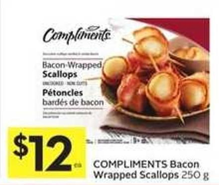 Compliments Bacon Wrapped Scallops