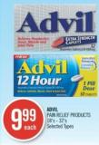 Advil Pain Relief Products 18's - 32's