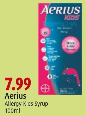 Aerius Allergy Kids Syrup 100ml