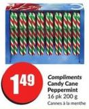 Compliments Candy Cane Peppermint 16 Pk 200 g