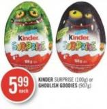 Kinder Surprise (100g) or Ghoulish Goodies (907g)