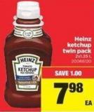 Heinz Ketchup Twin Pack - 2x1.25 L