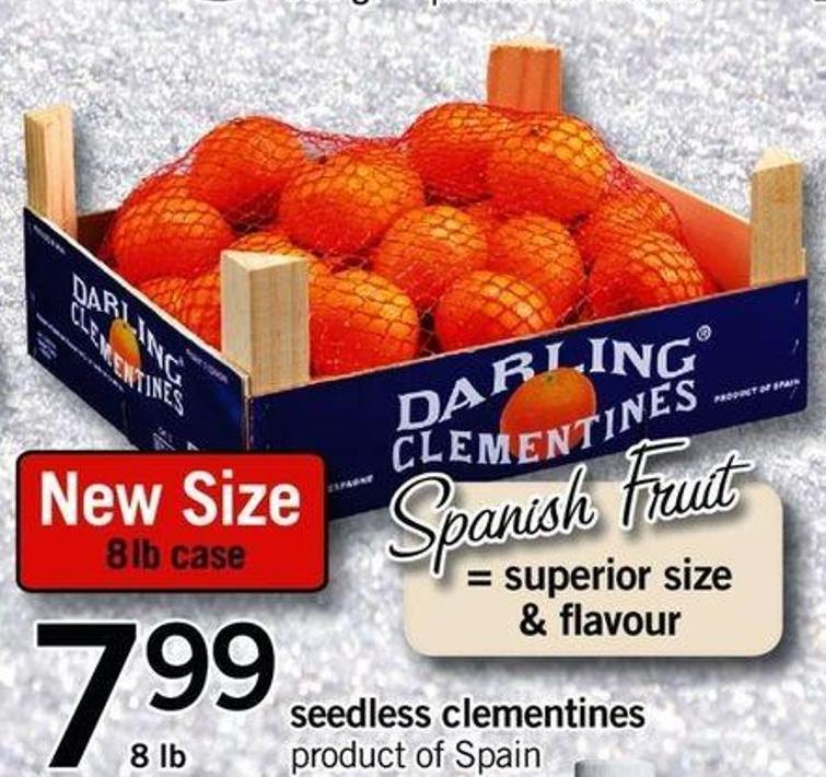 Seedless Clementines - 8 Lb