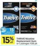 Thrive Nicotine Replacement Gum - 15 Air Miles Bonus Miles