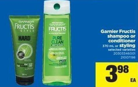 Garnier Fructis Shampoo Or Conditioner - 370 Ml Or Styling