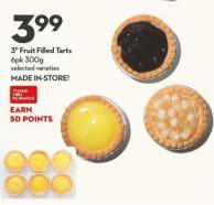 3in Fruit Filled Tarts 6pk 300g