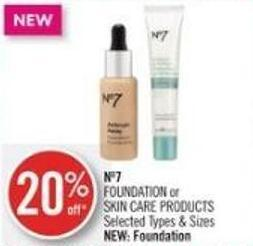 No7 Foundation or Skin Care Products