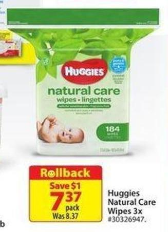 Huggies Natural Care Wipes 3x