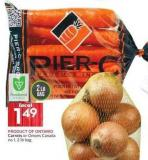 Carrots or Onions Canada No 1 - 2 Lb Bag