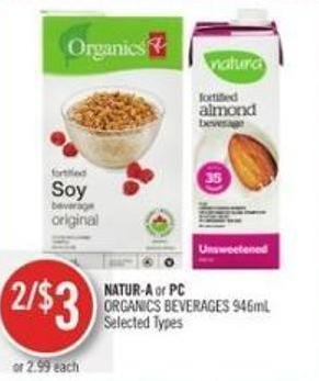 Natur-a or PC Organics Beverages