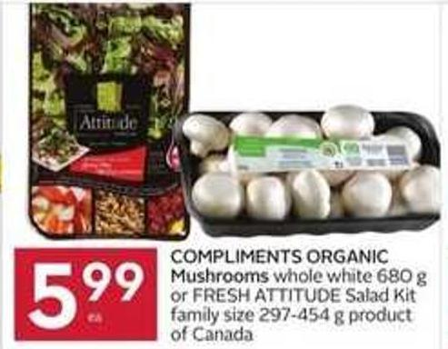 Compliments Organic Mushrooms