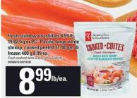 Fresh Rainbow Trout Fillets - 8.99 Lb Or PC Pacific Large White Shrimp - Cooked Peeled - 31-40 Per Lb - 400 g
