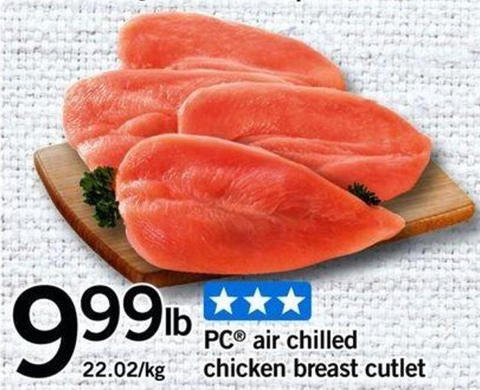 PC Air Chilled Chicken Breast Cutlet